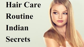 Routine Hair Care / Indian Secrets Of Silky Hair / Damages Hair Care At Home Growth