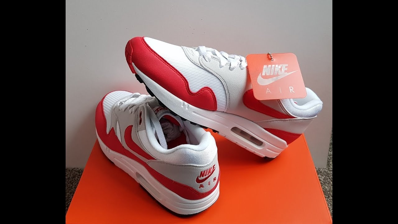 best sneakers b253d e67b9 Unboxing Unpacking NIKE AIR 1 30TH ANNIVERSARY WHITE UNIVERSITY RED code 908375  103