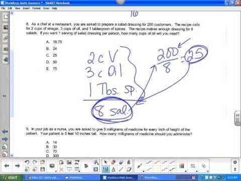 WorkKeys Math Answers