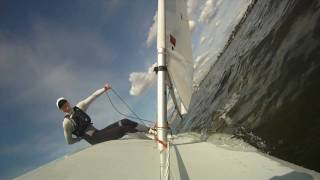 GoPro HD HERO: Extreme laser sailing with slow motion tacks