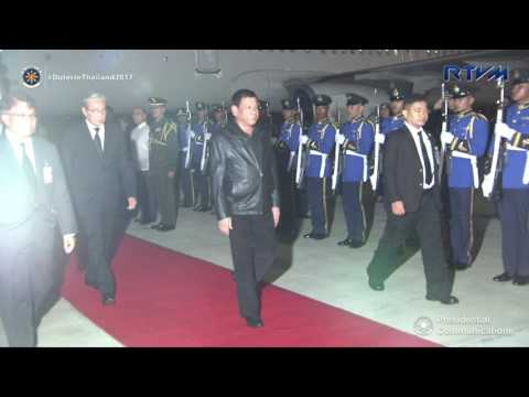Arrival at the Royal Thai Air Force Military Air Terminal 2 in Bangkok, Thailand 3/20/2017