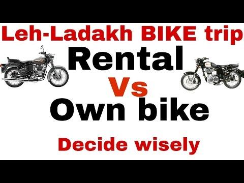 Rented vs Own Bike for Your Leh Ladakh Trip?[Hindi]