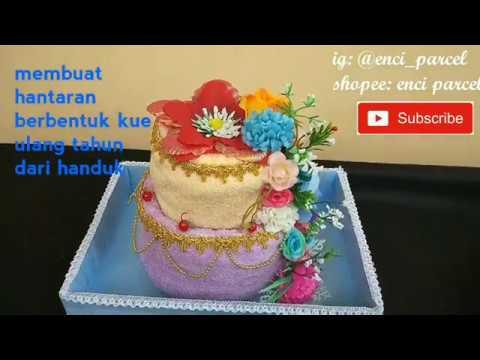 Cara Hias Hantaran Handuk Berbentuk Kue Pengantin Kue Pernikahan