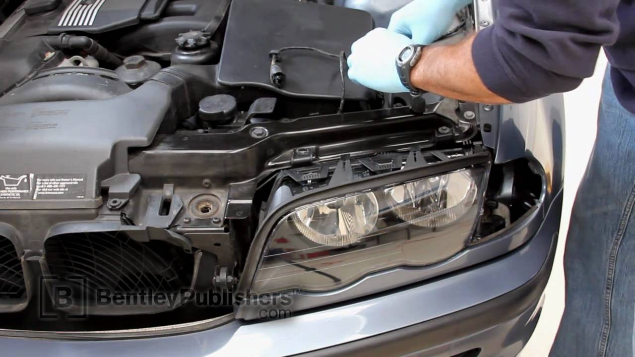 small resolution of bmw 3 series e46 1999 2005 headlight assembly lens diy repair youtube