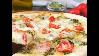 Рецепт пиццы с соусом песто | Соус песто с грецкими орехами и без пармезана