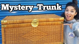 FOUND MONEY IN TRUNK Bought Abandoned Storage Unit Locker Opening Mystery Boxes Storage Wars Auction