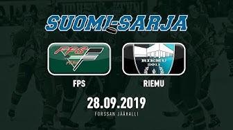 SUOMI-SARJA 2019-2020: 28.09.2019 FPS - Riemu 5-3