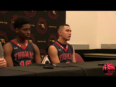 Thomas Johnson Press Conference after loss to Milford Mill in MD 3A State Semis 3/8/18