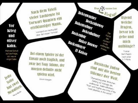 Fußball Sprüche Das Runde Muss Ins Eckige Postkarten Youtube