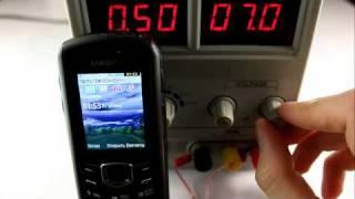Samsung B2710 Xcover. Тест на превышение напряжения питания