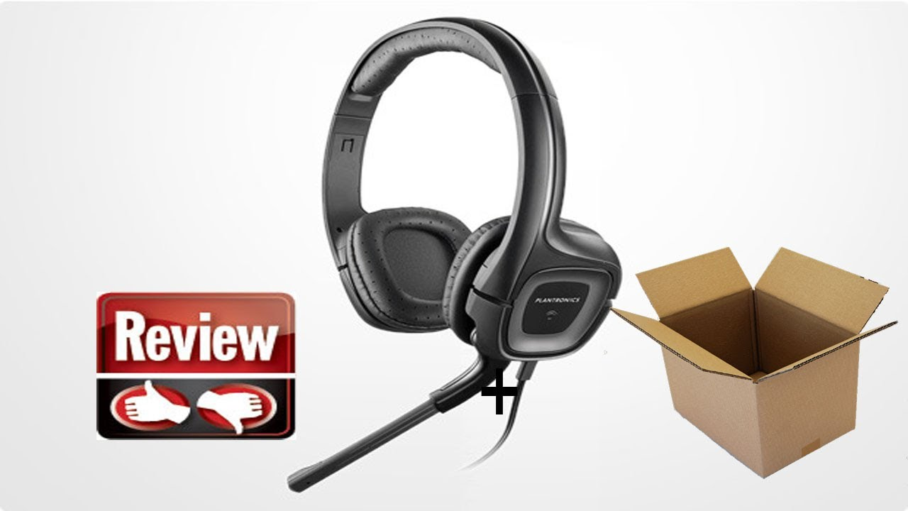 e4d35cb9ecd Plantronics .Audio 355 Stereo Headset Unboxing+review - YouTube