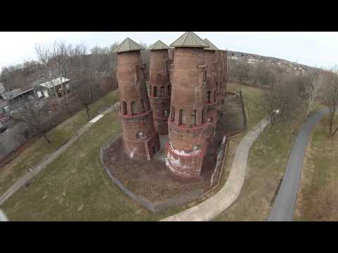 Coplay Cement Kilns; Coplay, PA. | Phantom Drone Video