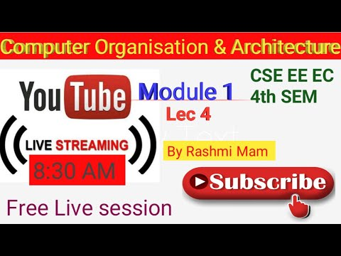 Computer Architecture and Organisation | Lec 4