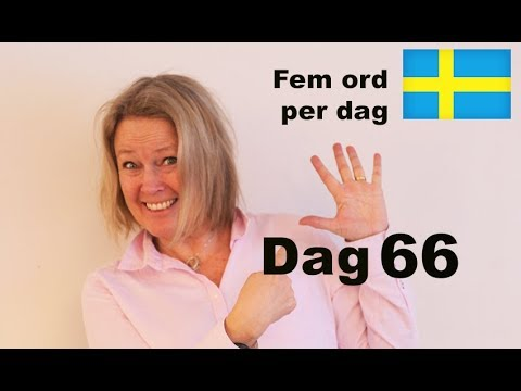 Dag 66 - Fem ord per dag - God natt! - Svenska A1 CEFR