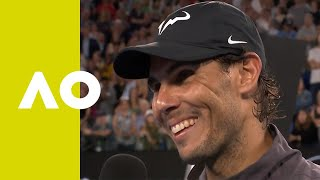 Rafael Nadal on-court interview (3R) | Australian Open 2019