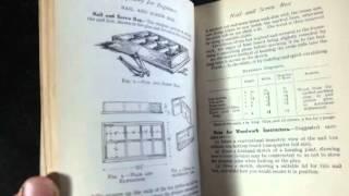 Nice 1923 Tool Filled Boys' Book 'carpentry For Beginners'