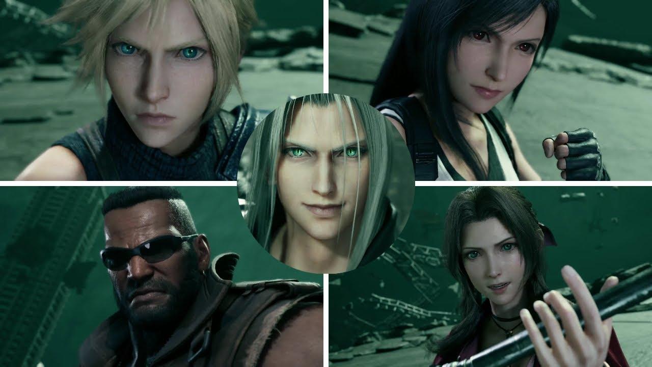 All Sephiroth Final Battle Cutscenes | Final Fantasy VII Remake