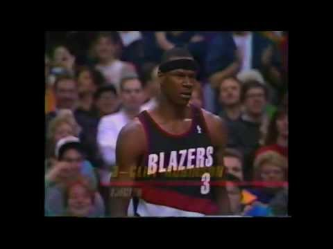 Clifford Robinson Loses His Cool And Is Ejected Vs Boston