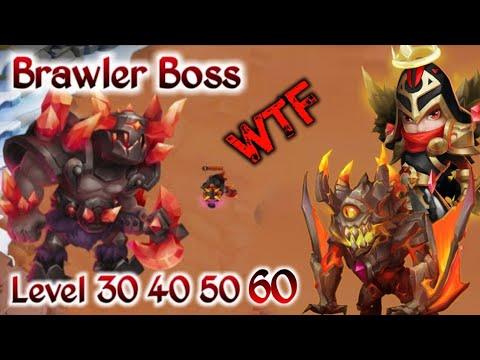 Brawler Warden Challenge | Level 30 40 50 60 |  Mike/Ghoulem Entrance | 1st Day | Castle Clash