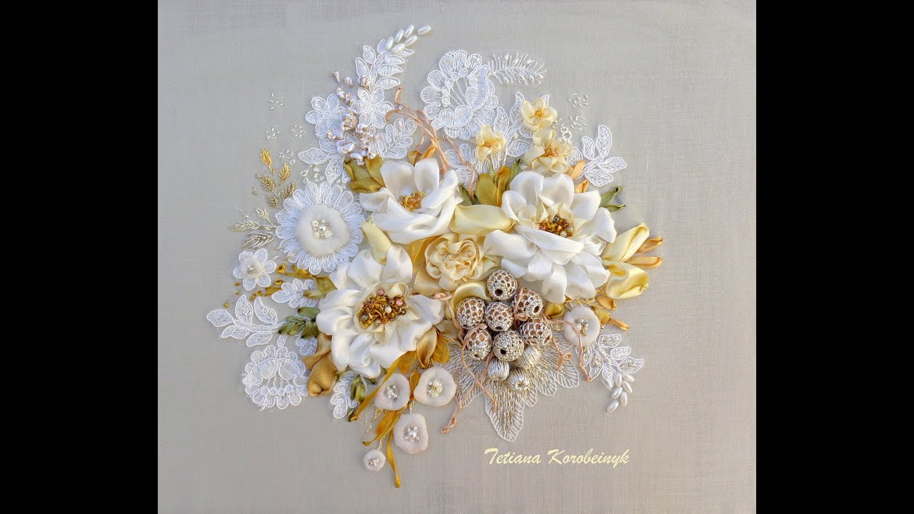 My works , 2015  Silk ribbon embroidery