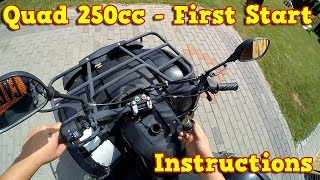 Quad 250cc - First Start Instructions + Test Ride Nitro Motors