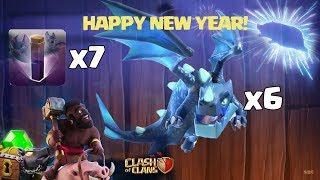 Bat Spell + Elcetric Dragonx6, Dragon | Attack Stratey 2019 Clash of Clans | #lus #ClanVNN