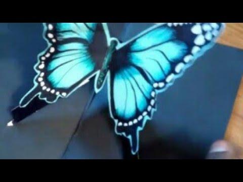How to create a butterfly diycard