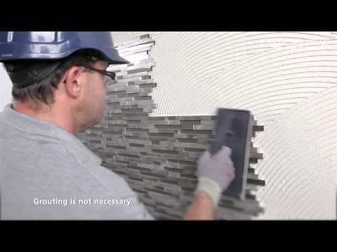 Installation of the Fusion Brick 3D mosaic by L'Antic Colonial   PORCELANOSA Group