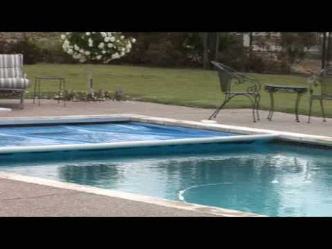 Hydraulic automatic swimming pool cover swimming pool - Swimming pool safety covers inground ...