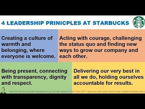 The 4 Core Values At STARBUCKS Via Howard Schultz