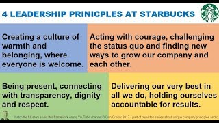 The 4 Core Values at STARBUCKS via Howard Schultz