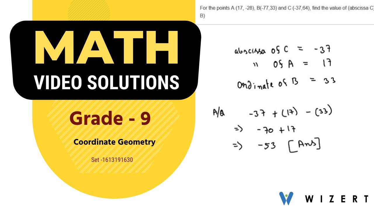 hight resolution of Coordinate Geometry Video Lessons for Grade 9 - Set 1613191630 - YouTube