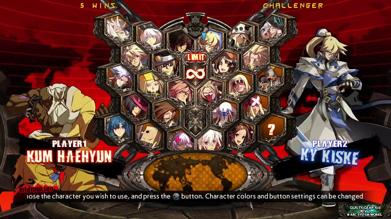 Guilty Gear Xrd Rev 2 Character Select