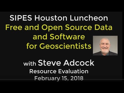 Steve Adcock- Free and Open Source Data for Geoscientists