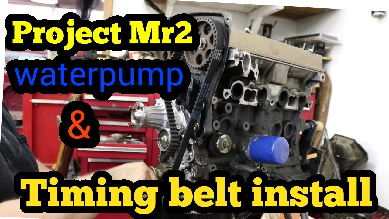 medium resolution of project mr2 waterpump and timing belt install