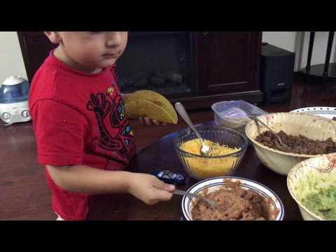 Ayaan Making his first Taco