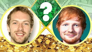WHO'S RICHER? - Chris Martin or Ed Sheeran? - Net Worth Revealed! (2017)