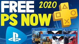 How to get FREE PS NOW And PS PLUS! No Credit Card! Unlimited FREE PS4 GAMES for LIFE April 2020!