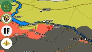 24 июля 2017. Военная обстановка в Сирии. Сирийская армия обошла силы США в Ракке. Русский перевод.