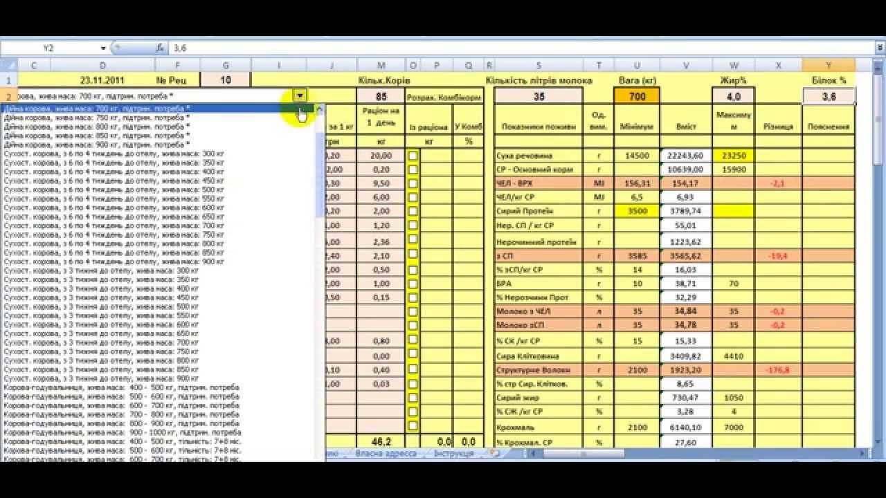 Программа расчета рецептов кормов для свиней скачать