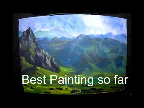 A Beautiful Valley Landscape Acrylics Painting 4K