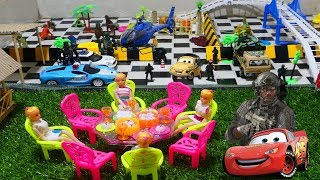 Happy Kids Video| the Girl a Group Come up Ride Car and Helicopter go to a Party! Cars For Kids,