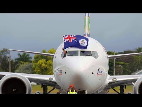 The Cayman Islands salutes the arrival of Cayman Airways' brand new Boeing 737 Max 8