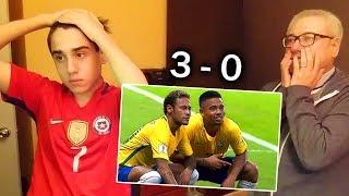 REACCION BRASIL 3 VS CHILE 0 - EL FIN DE LA HISTORIA TERMINA ACÁ