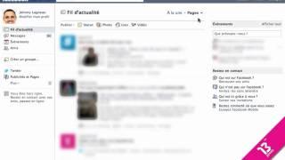 Facebook: filtrage du fil d'actualité