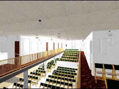 Iglesia nuevas de gran gozo planos 3d templo youtube for Planos 3d