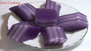 BÁNH DA LỢN KHOAI LANG TÍM -  Steamed Purple sweet potato Layers Cake   || Lina Cooking