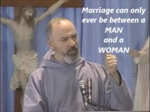 MARRIAGE IS BETWEEN A MAN AND A WOMAN