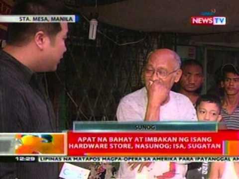 BT: 4 na bahay at imbakan ng hardware store sa Manila, nasunog