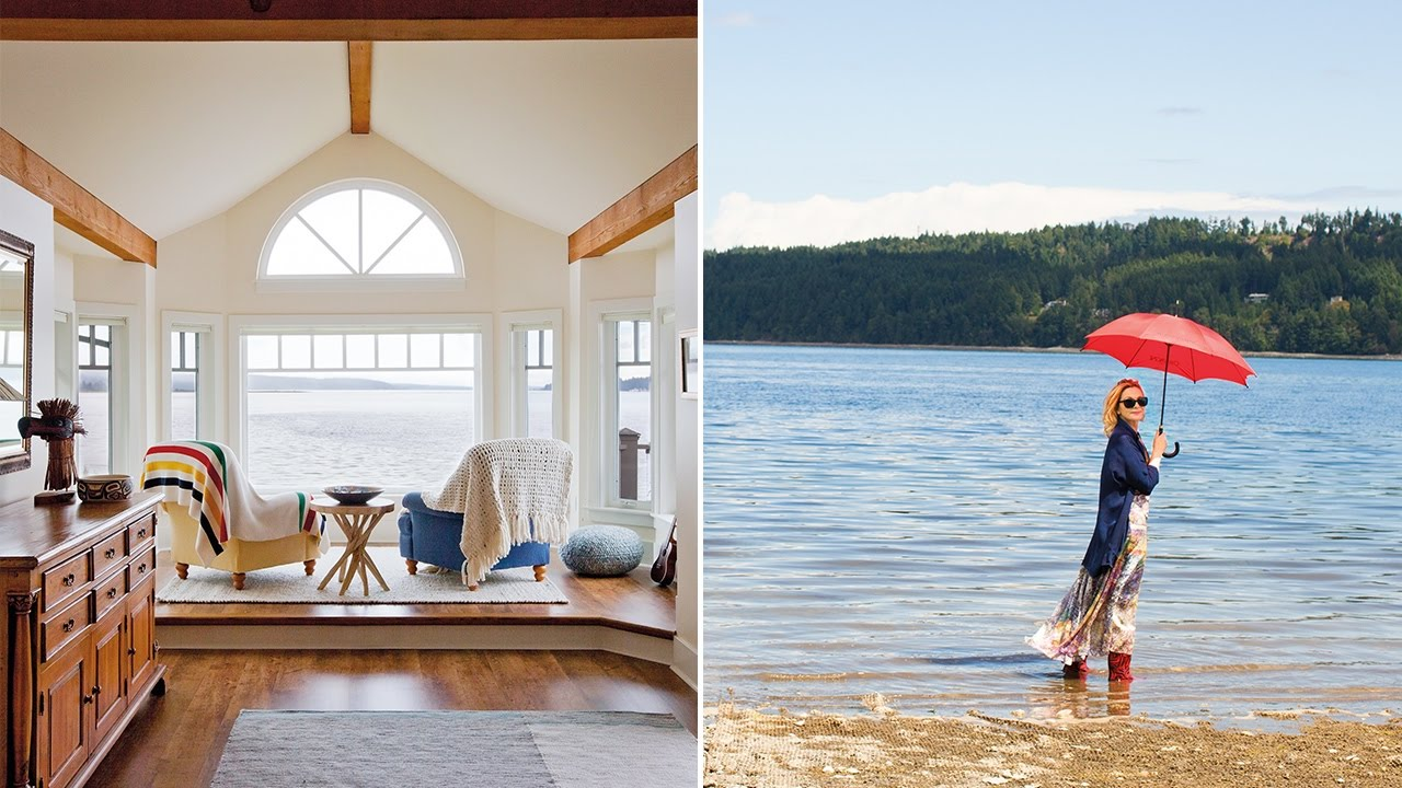 Exclusive Look Go Inside Kim Cattralls Vancouver Island Home